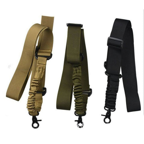 Single Point Heavy Duty Nylon Bungee Rifle Sling. 2 For 1.
