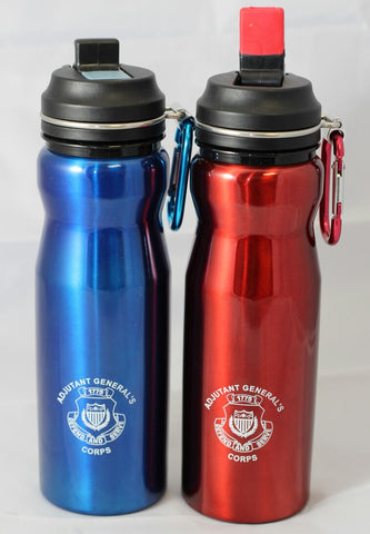 Water Bottle With Flip Cap And Carabiner