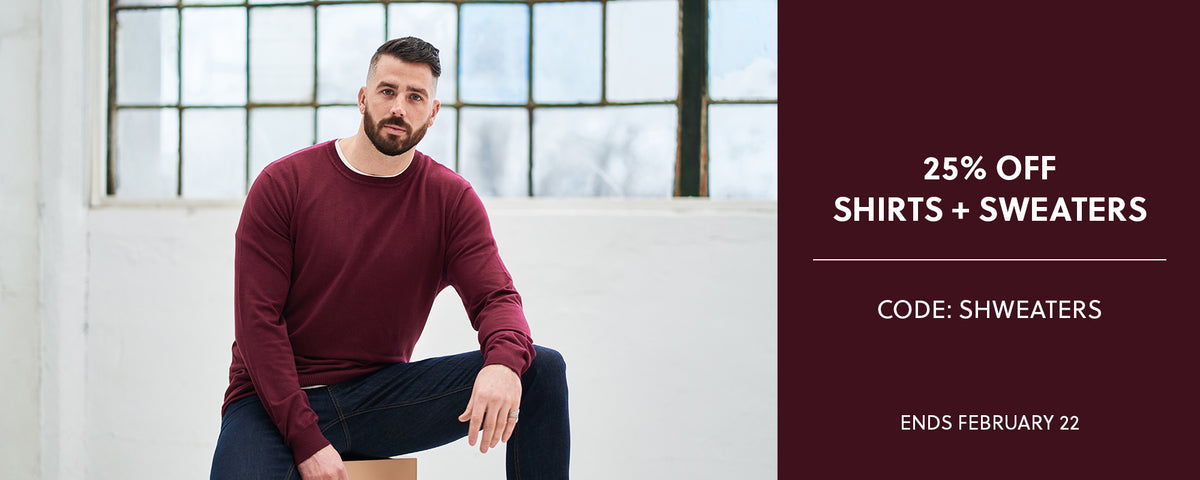 Shirts + Sweaters Sale