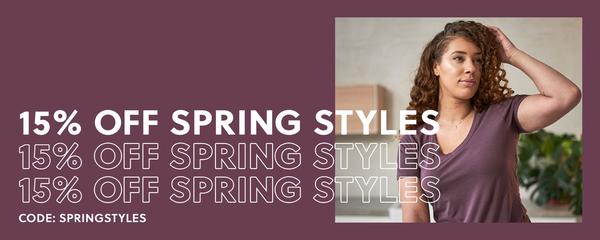 15% OFF SPRING STYLES