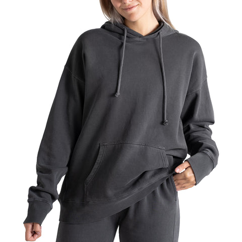 tall womens charcoal oversized hoodie