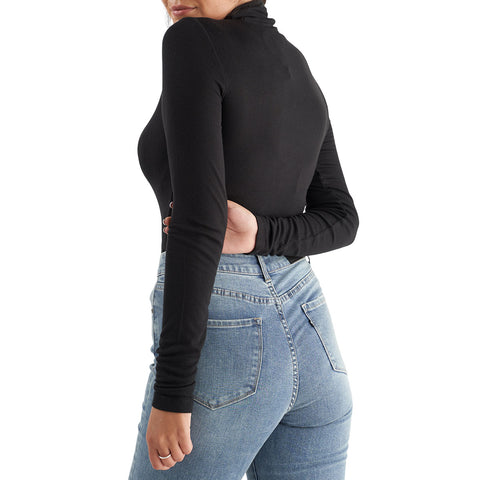 black turtleneck tall girl