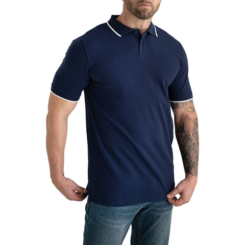 tall mens blue polo