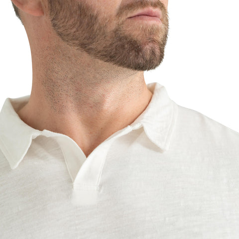 tall mens white polo