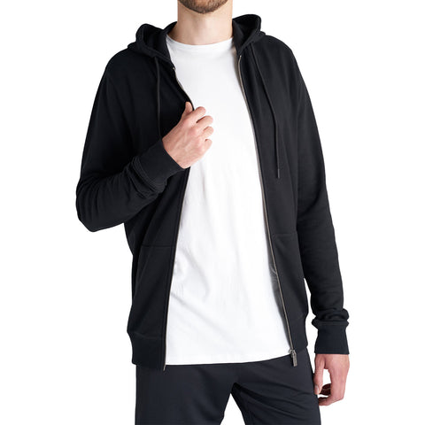 tall mens black zip up hoodie