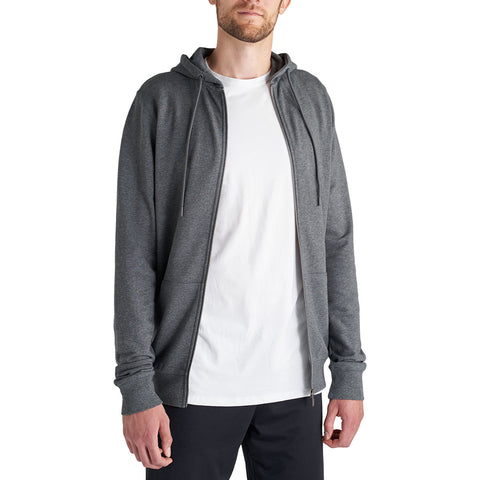 charcoal zip hoodie for tall men