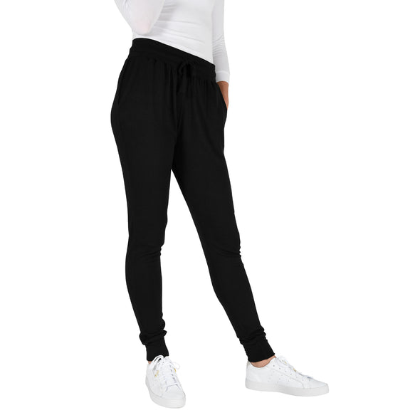 american-tall-womens-light-weight-pj-lounge-pants-black-front