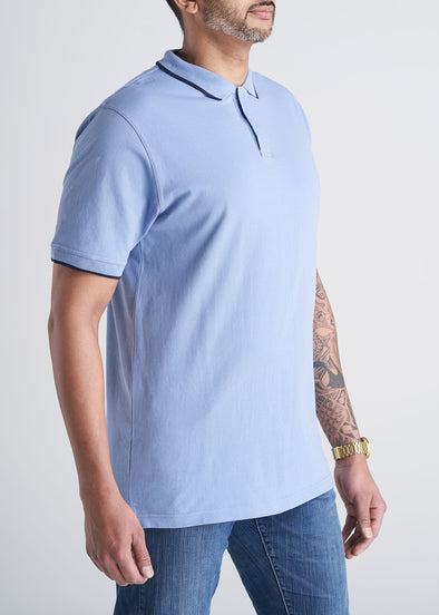 American_Tall_Mens_Basic_Polo_Tipping_SkyBlue_Navy-side