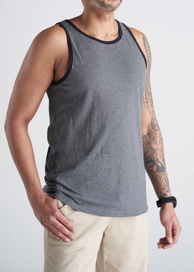 American_Tall_Mens_Beach_Tank_Space_charcoal_mix-front