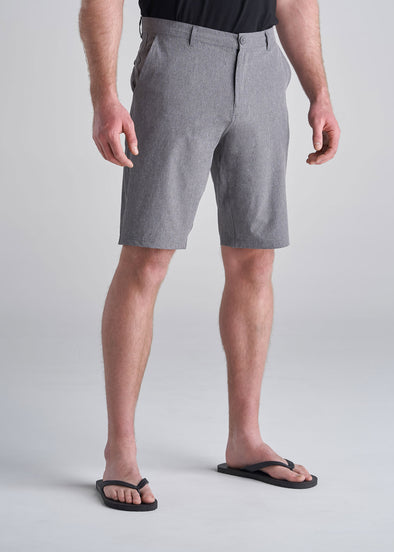 American_Tall_Mens_Hybrid_Shorts_charcoal_mix-front