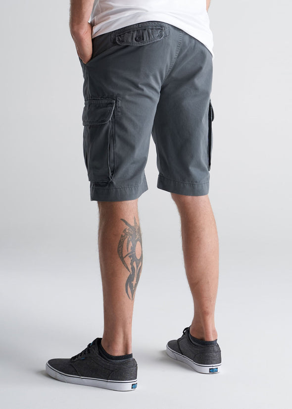 American_Tall_Mens_LongJohn_Cargo_Pocket_Shorts_Flint_grey-back
