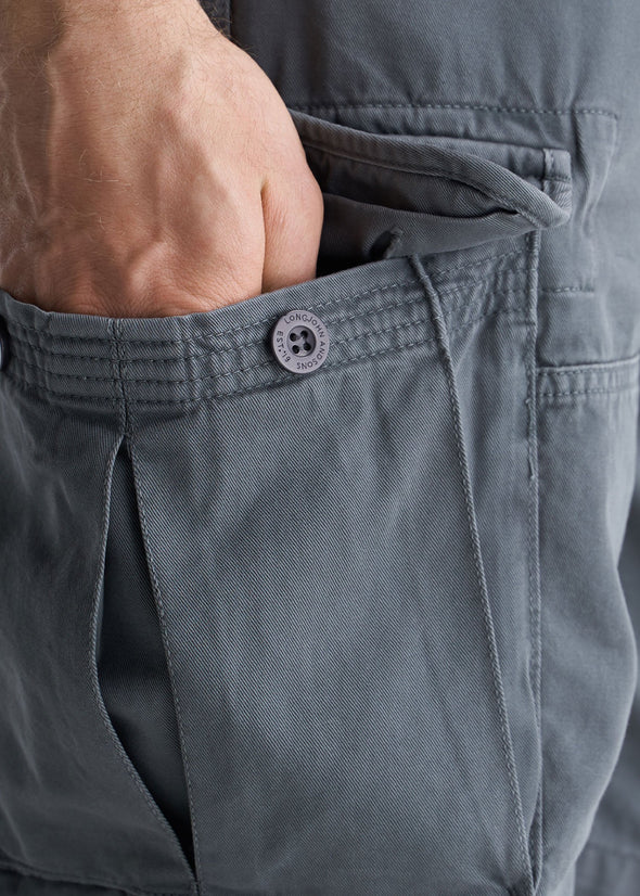 American_Tall_Mens_LongJohn_Cargo_Pocket_Shorts_Flint_grey-pocket