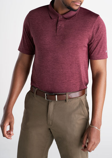 American_Tall_Mens_Performance_Golf_Polo_Inset_Sleeve_Rustmix-front