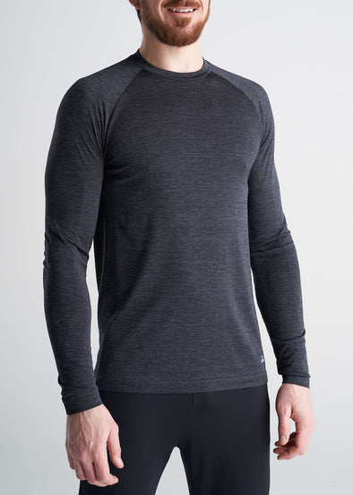 American_Tall_Mens_Performance_LongSleeve_Raglan_CharcoalMix-side