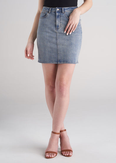 American_Tall_Women_Classic_Denim_Skirt_Vintage_Light_Blue-front