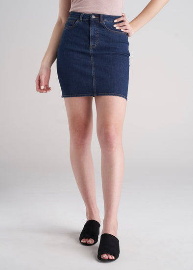 American_Tall_Women_Classic_Denim_Skirt_Washed_Indigo_Blue-front