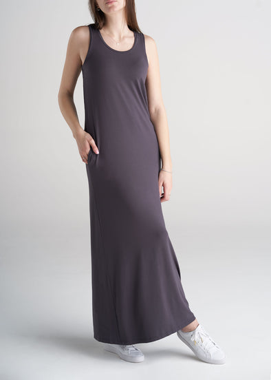 American_Tall_Womens_Maxi_Dress_Dark_Charcoal-front