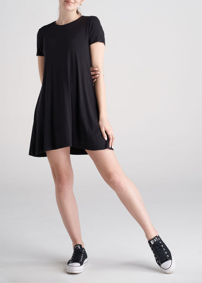 American_Tall_Womens_Swing_Dress_Black-front