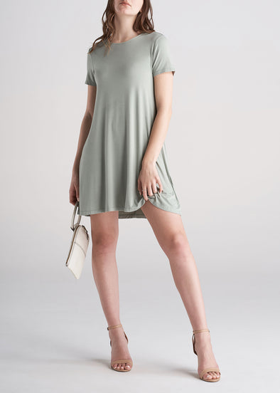 American_Tall_Womens_Swing_Dress_Sage_Green-front2