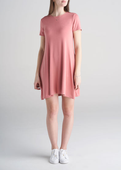 American_Tall_Womens_Swing_Dress_coral_rose-front_view