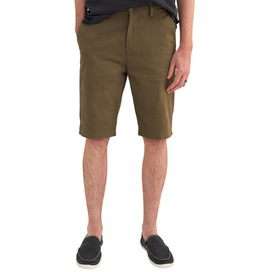 Chino Shorts for Tall Men in Army Brush