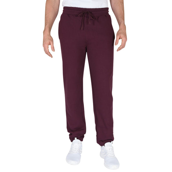80-20 Fleece Elastic-Bottom Men's Tall Sweatpants in Maroon
