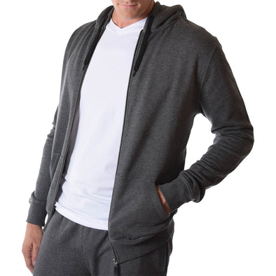 American Tall Zip Hoodie In Charcoal