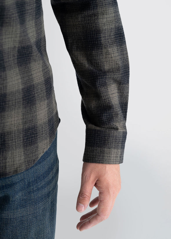 Longjohnandsons-americantall-mens-heavyflannel-surplusgreen-detailarm