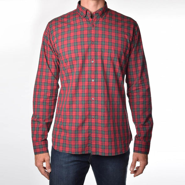 american-tall-dress-shirts-for-tall-guys-soft-wash-bonfire-red-plaid