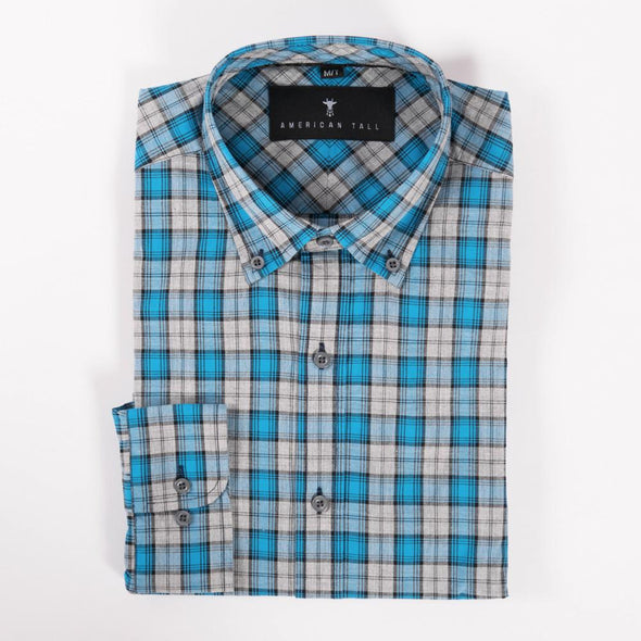 american-tall-button-up-shirts-for-tall-guys-soft-wash-seaport-blue-plaid