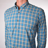The Soft-Wash Shirt in Seaport Blue Plaid