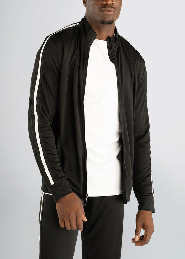 american-tall-athleticstripejacket-black-frontzip