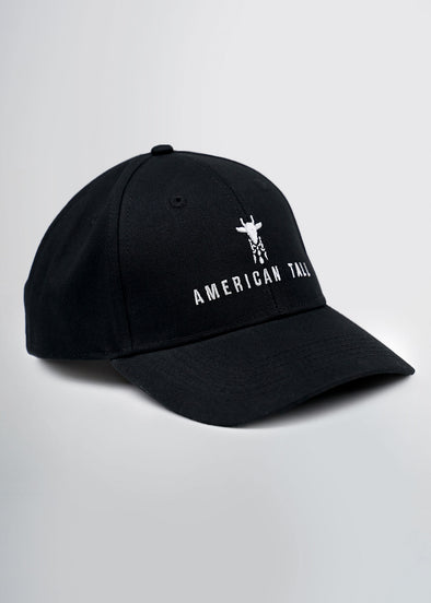 american-tall-baseball-hat-black-front