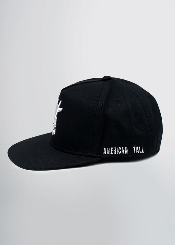american-tall-flat-brim-hat-black-side