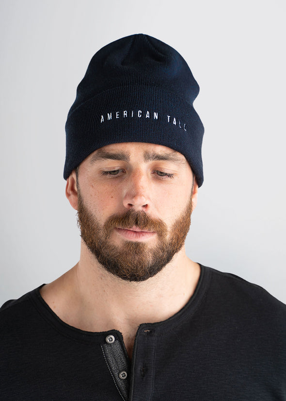 american-tall-mens-beanie-navy-front