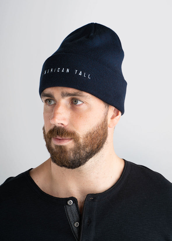 american-tall-mens-beanie-navy-side