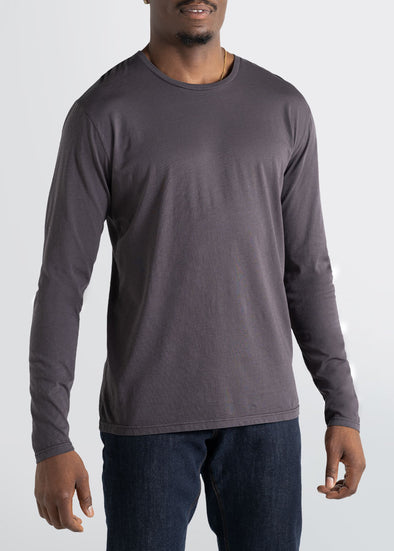 american-tall-mens-crewneck-longsleeve-charcoal-front