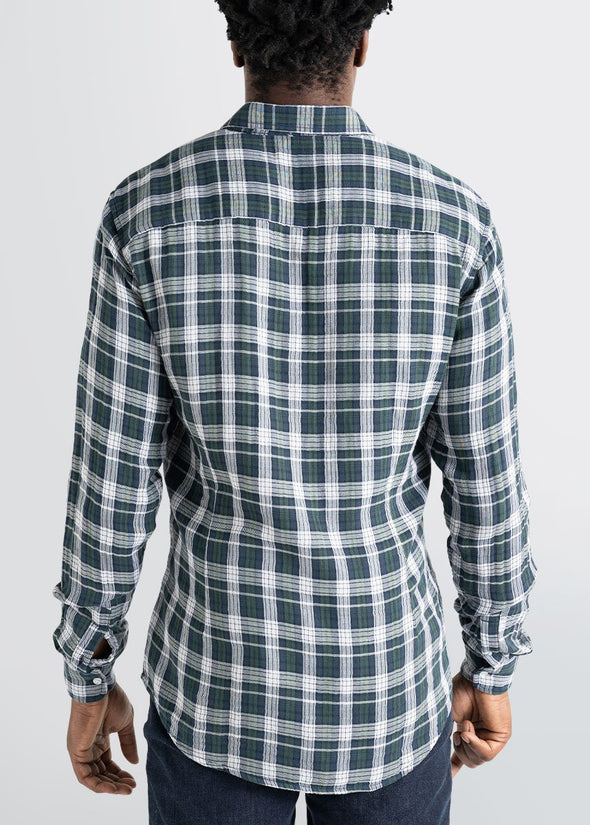 american-tall-mens-double-weave-forestgreen-whiteplaid-back