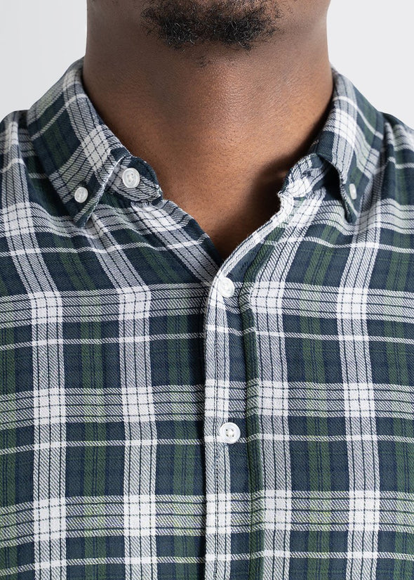 american-tall-mens-double-weave-forestgreen-whiteplaid-detailcollar