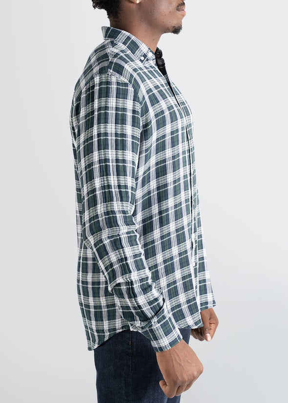 american-tall-mens-double-weave-forestgreen-whiteplaid-side