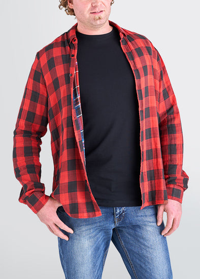 american-tall-mens-double-weave-redblackplaid-front