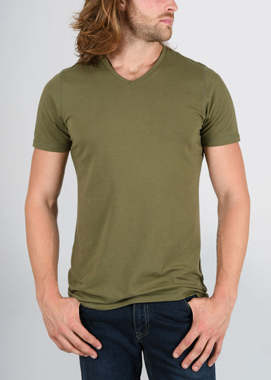 american-tall-mens-essential-slim-vneck-olive-green-front.