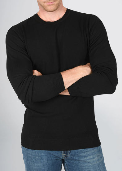 american-tall-mens-fitted-crew-sweater-black-front