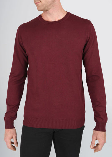 american-tall-mens-fitted-crew-sweater-burgundy-front