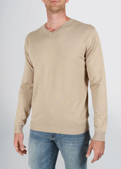 american-tall-mens-fitted-vneck-barley-front