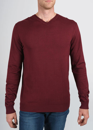 american-tall-mens-fitted-vneck-burgundy-front