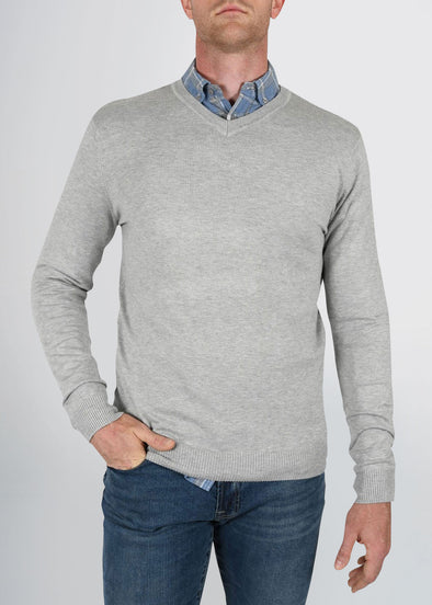 american-tall-mens-fitted-vneck-greymix-front