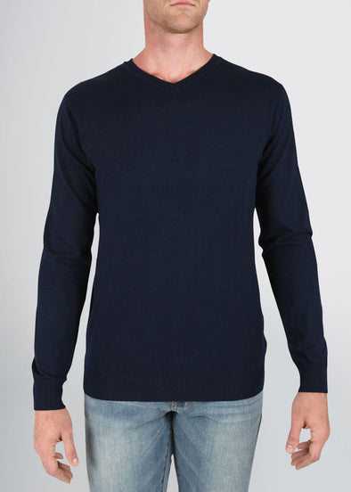 american-tall-mens-fitted-vneck-navy-front