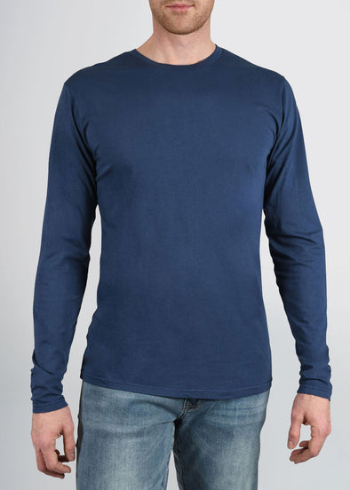 american-tall-mens-garment-dyed-crew-longsleeve-navyblue-front