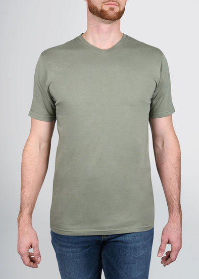 american-tall-mens-garment-dyed-v-tee-armygreen-front